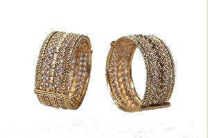 Kundan Intricate Gold Bangles