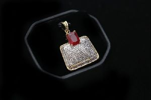 Red Stone AD Pendant