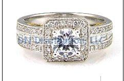 0.58 Ct Diamond & 18KT 2 Tone Gold Semi Mount Ring