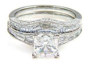 .91Ct Diamond & 18KT White Gold Semi Mount Ring
