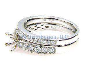 0.75  Diamond & 18KT White Gold Semi Mount Ring