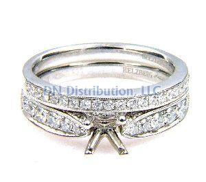 0.61 Ct .Diamond & 18KT White Gold Semi Mount Ring