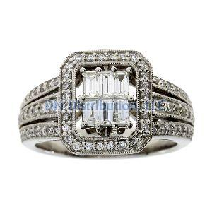 .75 Ct Diamond & 18KT White Gold  Ring