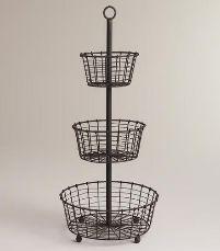 GI-022 Iron Wire Basket Stand