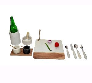 Marble Kitchen Accessories Set
