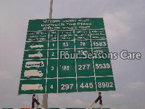 Toll Plaza Sign Board