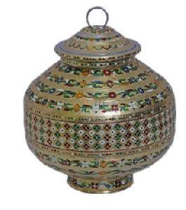 Meenakari Storage Pot