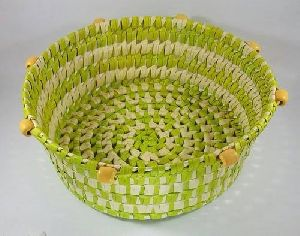 Palm Leaf Round Basket