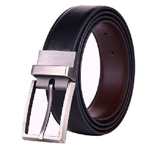 Mens Pure Leather Reversible Black Belts