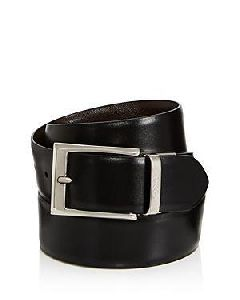 Mens Pure Leather Single Black Belts