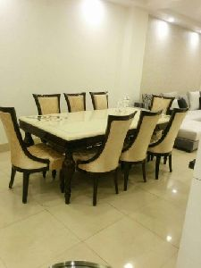 Eight Seater Dining Set With Top Marble