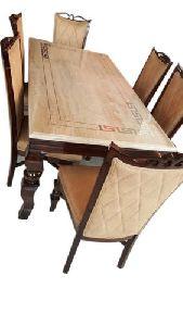 Italian Diana Marble Top Dining Table Set