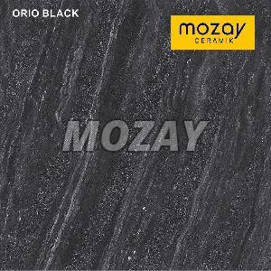 Orio Black Double Charged Vitrified Tile