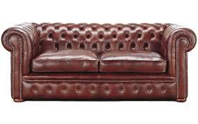 2 Seater Leather Wooden Sofa