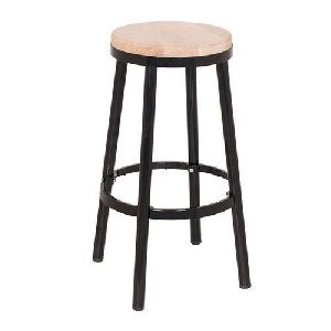 Round Iron Bar Stool