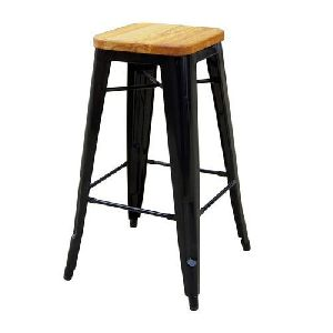 Square Iron Bar Stool