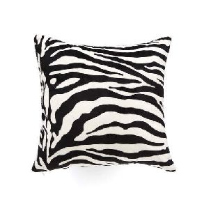 Zebra Print Leather Bed Cushions