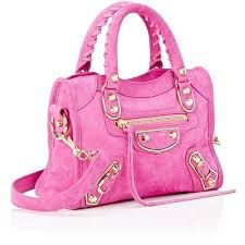 Ladies Pink Leather Handbag