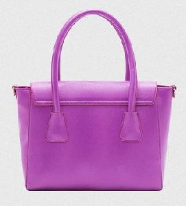 Ladies Purple Leather Handbag