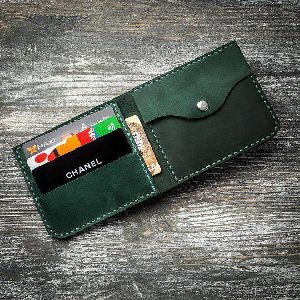 Mens Green Leather Wallet