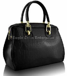 Ladies Black Leather Handbag