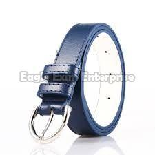 Ladies Blue Leather Belt