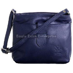 Ladies Blue Leather Handbag