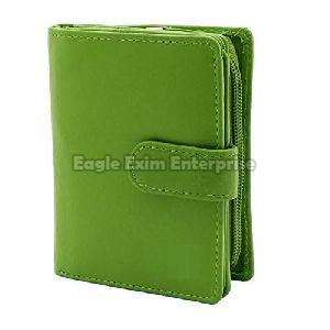 Ladies Green Leather Wallet