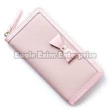 Ladies Pink Leather Wallet