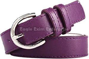 Ladies Purple Leather Belt