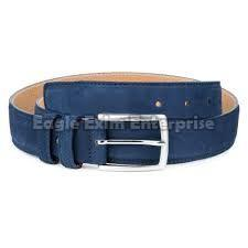Mens Blue Leather Belt