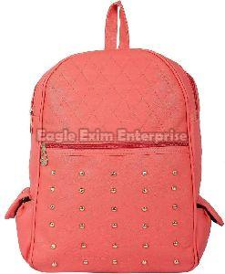 Pink Leather Picnic Bag