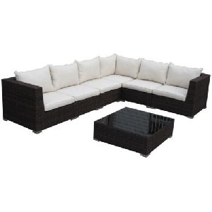 Wooden L Shape Sofa