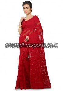 Plain Jamdani Saree