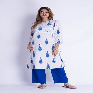 Block Printed Cotton Kurti