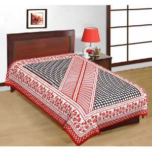Cotton Jaipuri Print Single Bedsheet