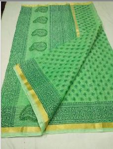 Kota Doria Printed Cotton Saree