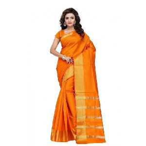 Tussar Silk Zari Border Saree
