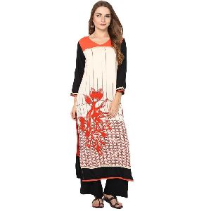 Viscose Printed Long Kurti