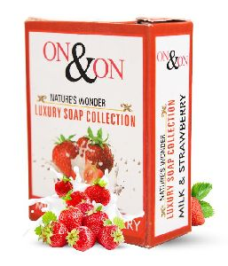 On & On Milk and Strawberry Soap