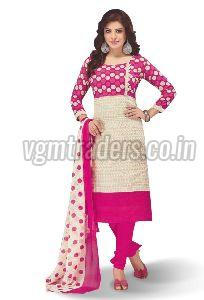 Cotton Unstitched Churidar Suit