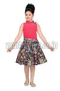 Girls Printed Skirt