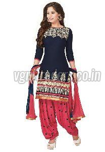 Ladies Embroidered Patiala Suit
