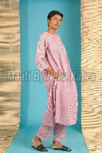 Pink Striped Kurta