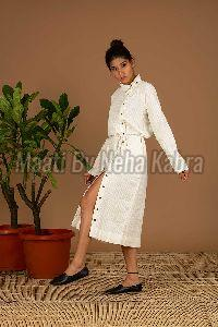 White Handloom Dress