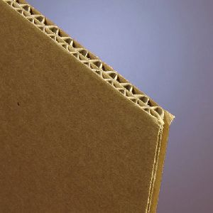 Brown Corrugated Cardboard Sheet