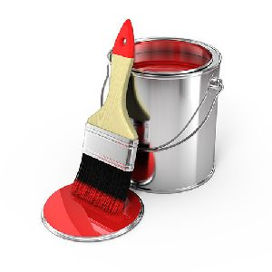 Red Enamel Paint