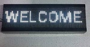 White LED Display Board