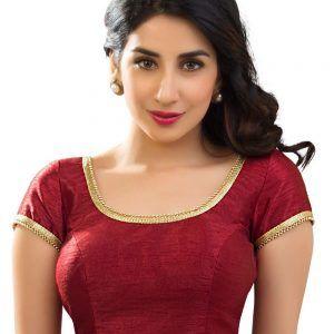 Dupion Silk Saree Blouse