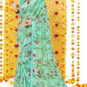 Linen Silk Printed Saree